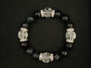 画像5: 四神獣 水晶素彫り14ミリ+ブルータイガーアイ12ミリ