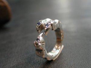 画像2: CLAW RING with SAPPHIRE 3 Pieces