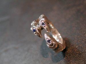 画像4: CLAW RING with SAPPHIRE 3 Pieces