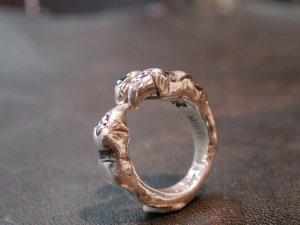 画像5: CLAW RING with SAPPHIRE 3 Pieces